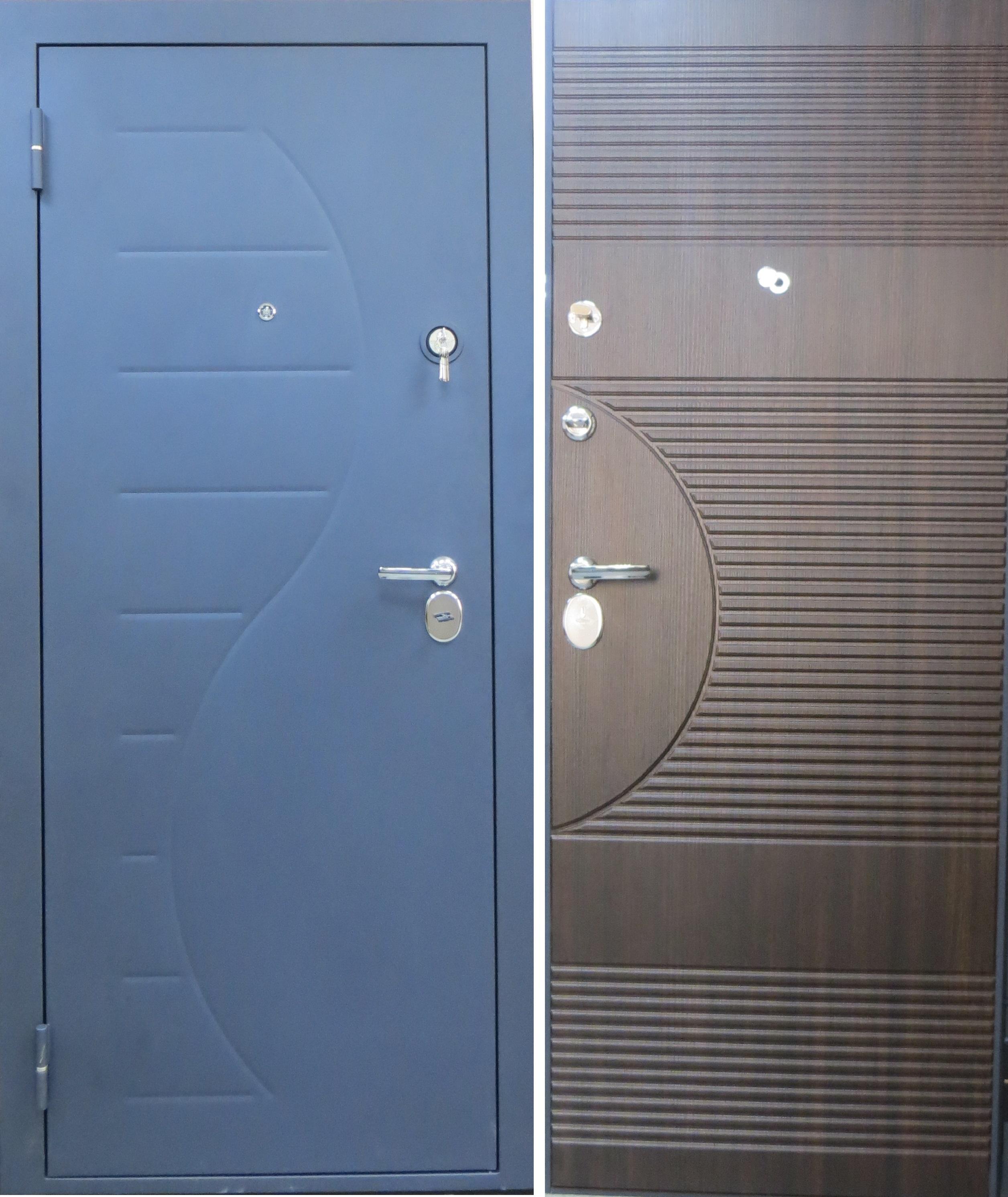 стальная дверь синяя